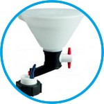 SafetyWasteCaps with safety funnel for liquid waste