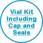 Vial Kit Including Cap and Seals