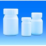 Wide-mouth bottles with screw thread, PTFE
