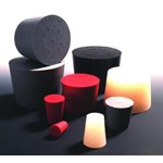 Deutsch and Neumann Silicone Rubber Stoppers One Hole 1011529