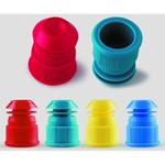 LLG Test Tube Stoppers Red 9231273